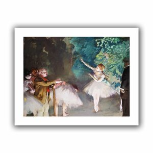 Ballet Rehearsal' by Edgar Degas Painting Print on Rolled Canvas by ArtWall