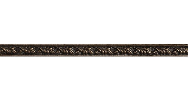 8 x 0.5 Olive Branch Liner Accent Tile in Bronze by Parvatile