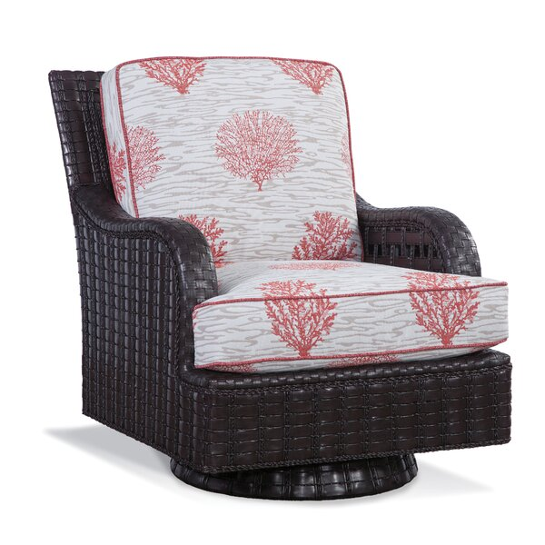 Lake Geneva Patio Swivel Rocking Chair with Cushions by Braxton Culler