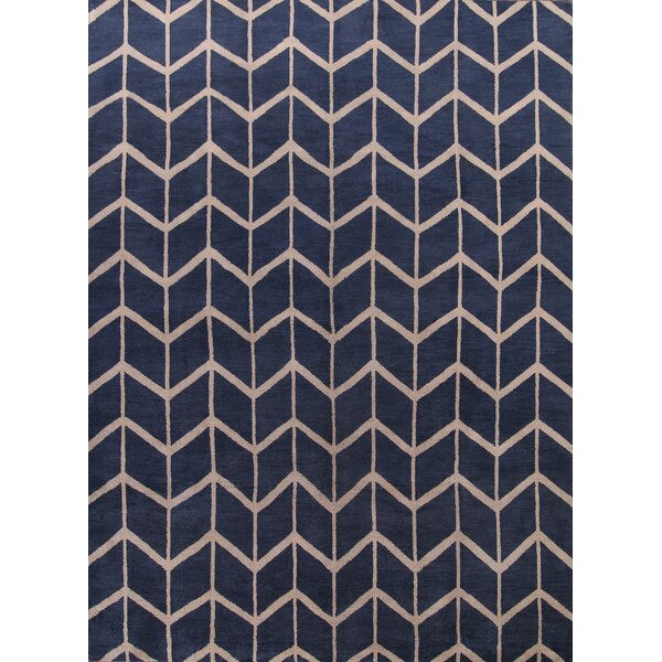 Lassiter Classical Moroccan Traditional Oriental Hand-Knotted Wool Beige/Blue Area Rug by Brayden Studio