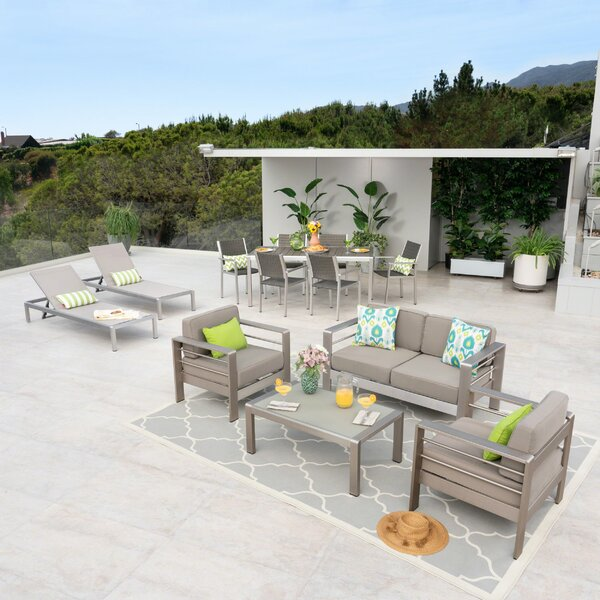 Royalston 13 Piece Complete Patio Set with Cushions by Brayden Studio