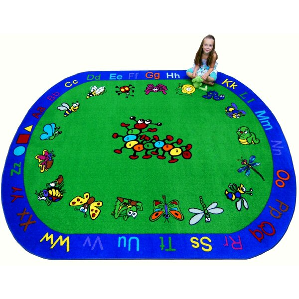 Fun Learning Critters Green/Blue Area Rug by Kids World Carpets