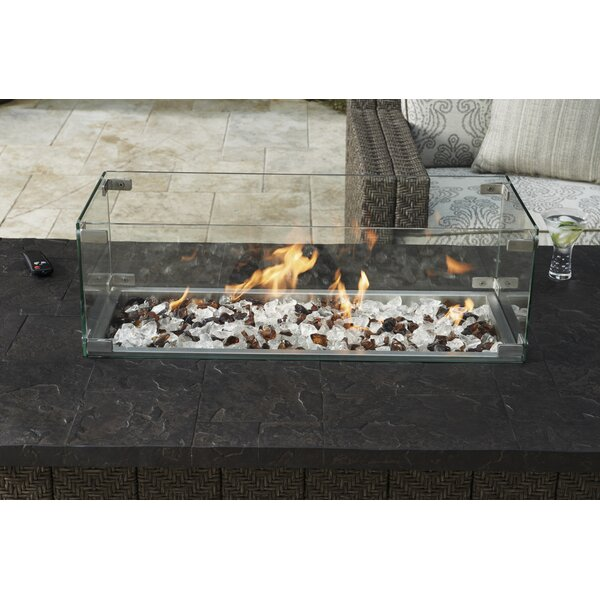 Alfresco Living Tempered Glass Flame Guard Tabletop Fireplace by Tommy Bahama Outdoor