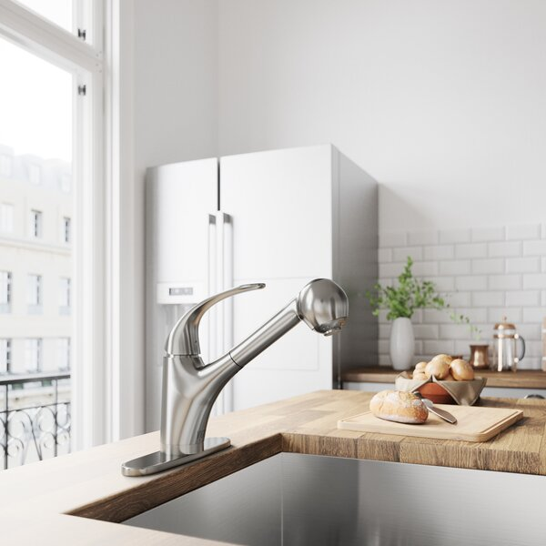 Alexander Pull Out Single Handle Kitchen Faucet by VIGO