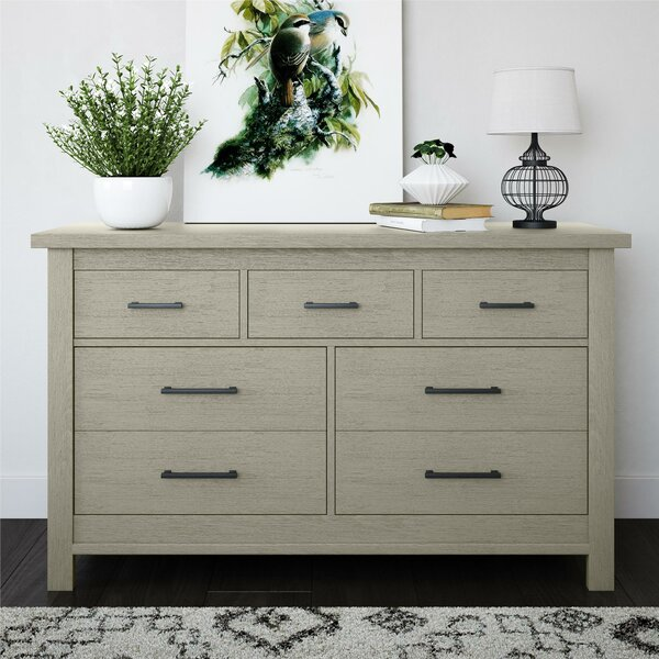 Canyon 7 Drawer Double Dresser by Bertini