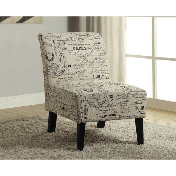 Travis French Script Fabric Side Chair By One Allium Way Best Design