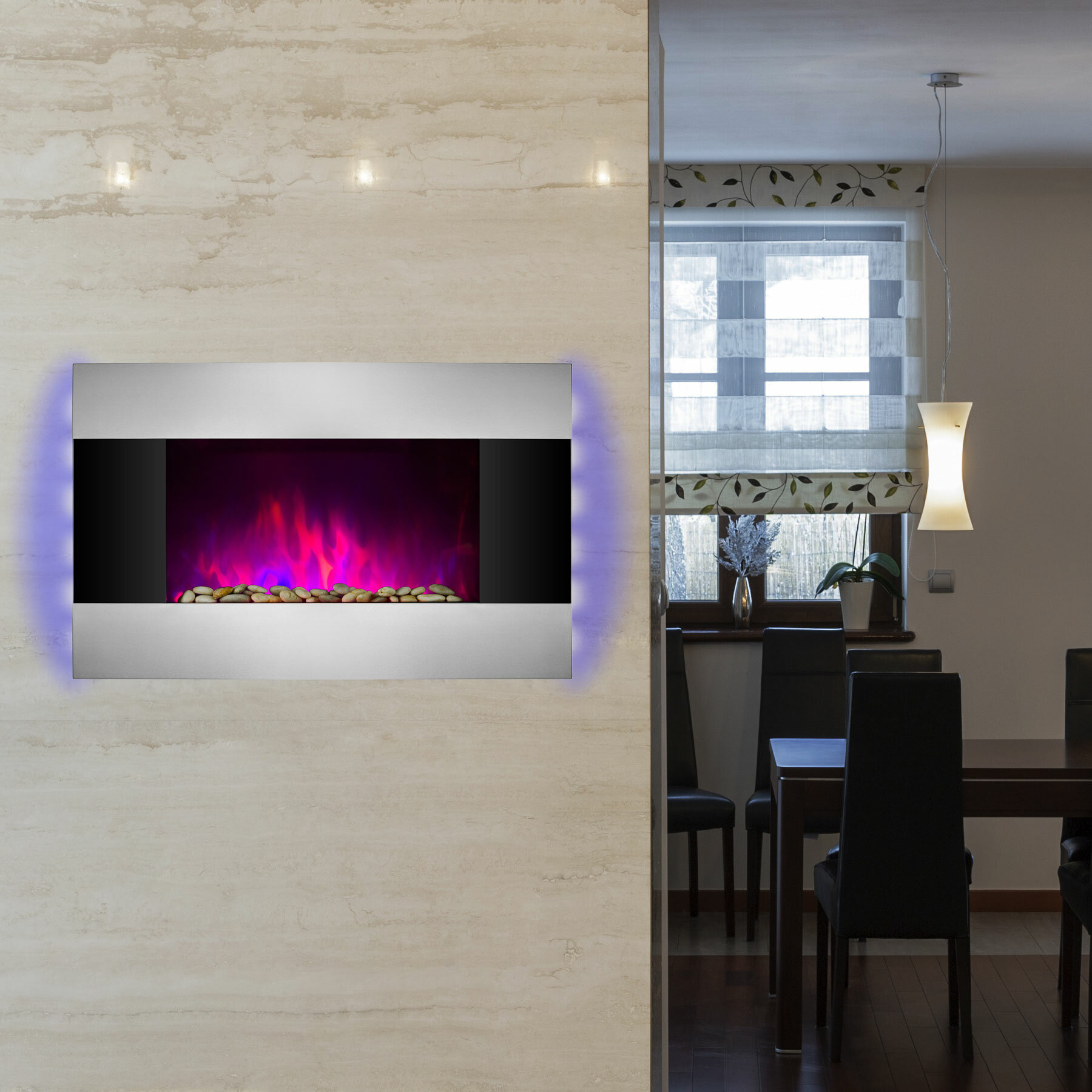 mounted star infrared glass wall felicity twin web quartz frame black fireplace