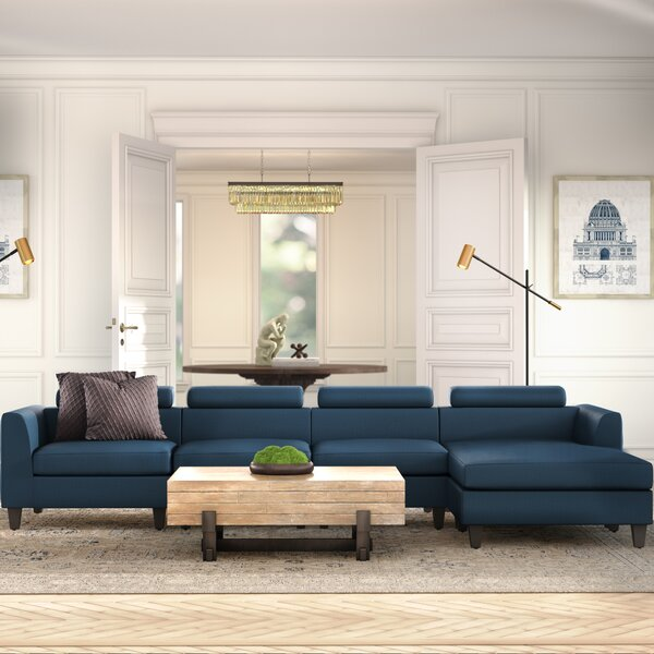 Perfect Shop Lundberg Right Hand Facing Modern Extended Deep Seated Chaise Modular Sectional Hot Deals 40% Off