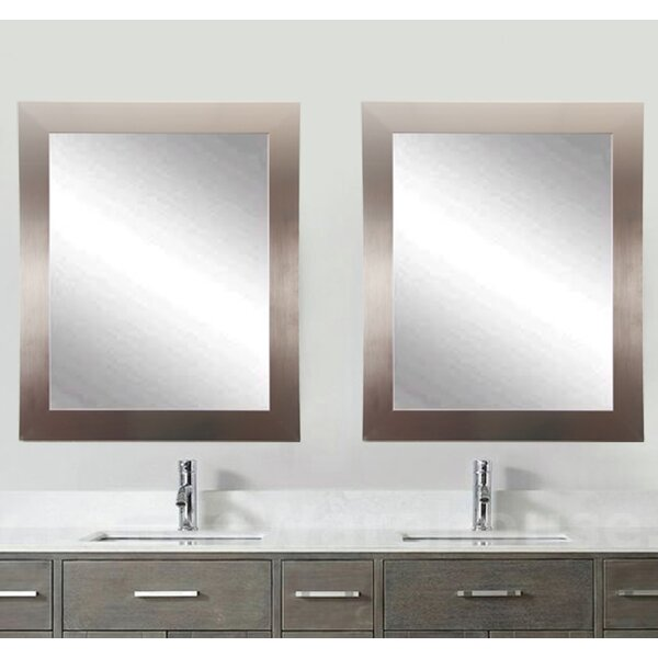 Matching Silver Wall Mirror (Set of 2) by Brandt Works LLC