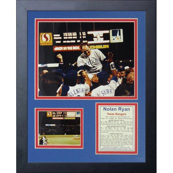 Nolan Ryan - 6th No-Hitter Framed Memorabilia by Legends Never Die