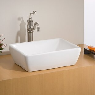 Best Deals Riviera Vitreous China Square Vessel Bathroom Sink By Cheviot Products
