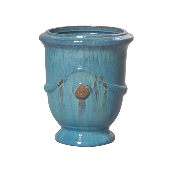 Anduze Glazed Pot Planter by Emissary Home and Garden