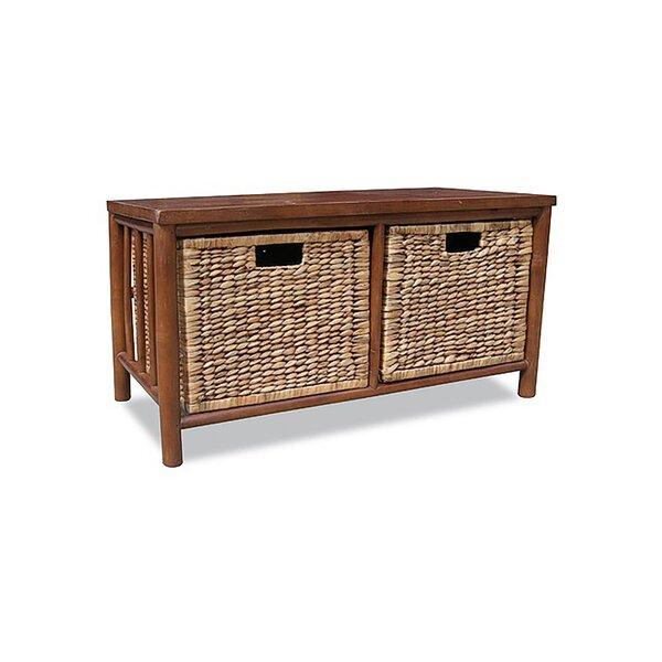 Sanderlin Solid Wood Basket Storage Bench