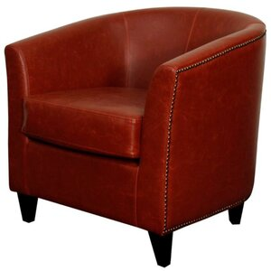 Orson Bonded Leather Barrel Chair by New Pacific Direct