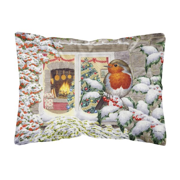 Ruhl European Robin Fabric Indoor/Outdoor Throw Pillow by Winston Porter