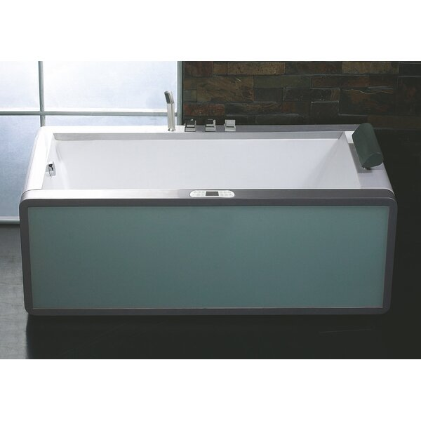 Rectangular 70.9 x 35.5 Freestanding Whirlpool Bathtub by EAGO