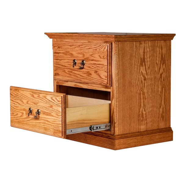Moreland 2 Drawer Nightstand by Loon Peak