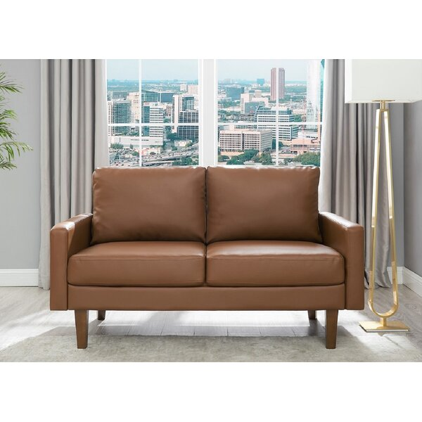 Peri 57.9'' Square Arms Loveseat By Wrought Studio