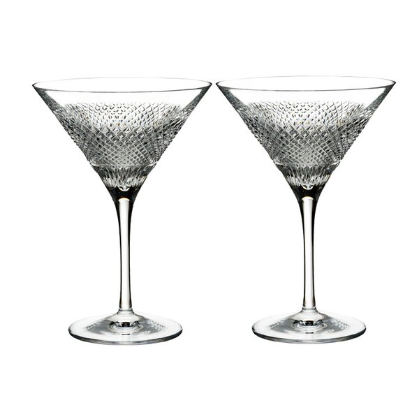 Diamond Line Martini 7 oz. Crystal Cocktail Glasses (Set of 2) by Waterford