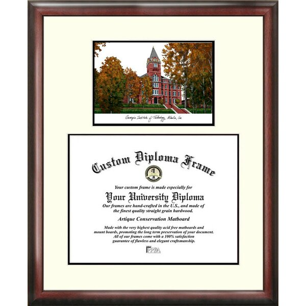 NCAA Georgia Institute of Technology Scholar Lithograph Picture Frame by Campus Images