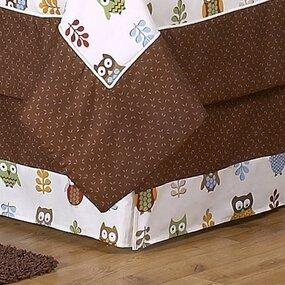 Night Owl Toddler Bed Skirt by Sweet Jojo Designs