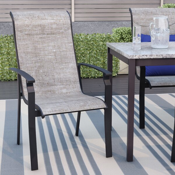 Ramon Stacking Patio Dining Chair (Set of 4) by Latitude Run