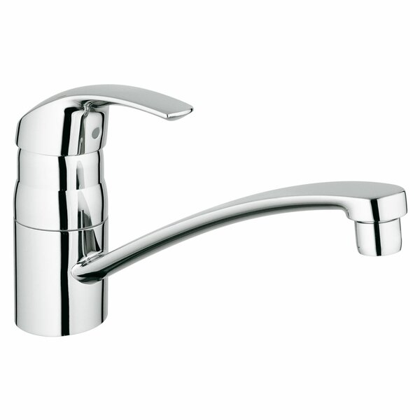 Eurosmart Single Handle Deck Mount Kitchen Faucet with Side Spray by Grohe