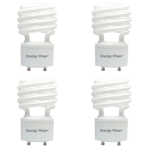 GU24 Compact Fluorescent Spiral Light Bulb (Set of 4) by Bulbrite Industries