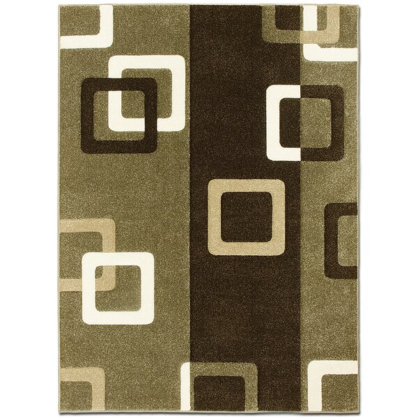 Green/Brown Area Rug by AllStar Rugs