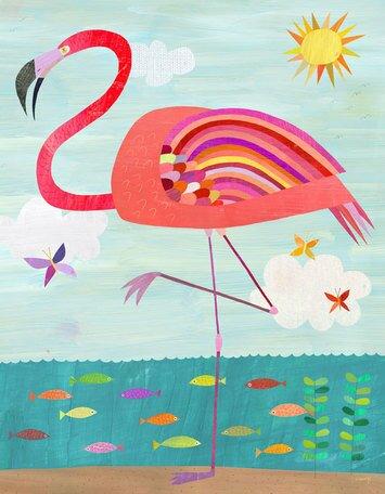 Flamboyant Flamingo Canvas Art by Oopsy Daisy