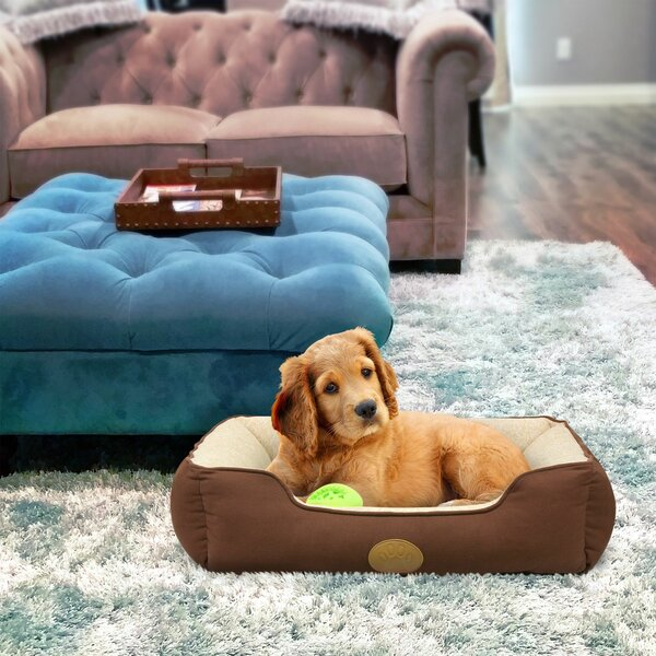 Duncombe Pet Lounger Bed Bolster with Super Soft Padding by Tucker Murphy Pet