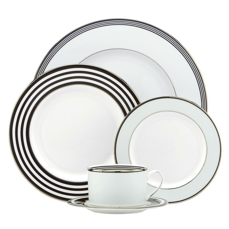 Bone China 5 Piece Place Setting, Service for 1