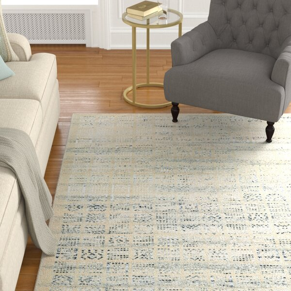 Cargile Hand-Knotted Natural/Black Area Rug by Charlton Home