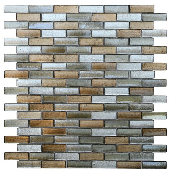 Opal 0.63 x 1.88 Glass Mosaic Tile in Gatsby by Kellani