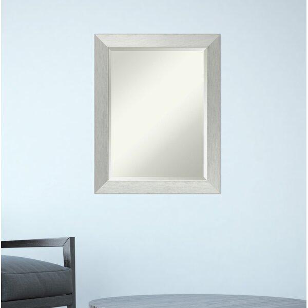 Brushed Wall Mirror by Latitude Run