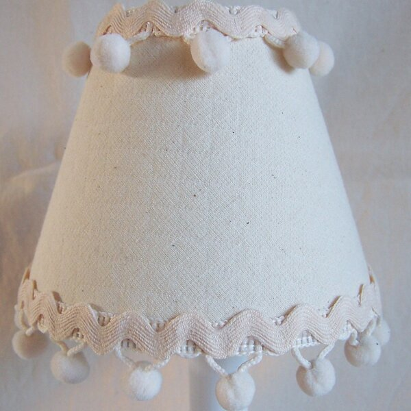 Sandcastle 7 H Fabric Empire Lamp Shade ( Screw On ) in White
