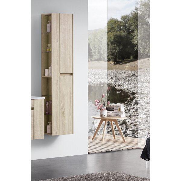 Fernando 14 W x 65 H x 10 D Wall Mounted Bathroom Cabinet