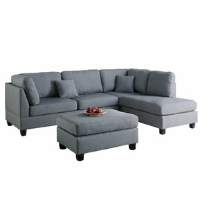 Chelsea Reversible Sectional  sc 1 st  Wayfair : rounded sectional - Sectionals, Sofas & Couches