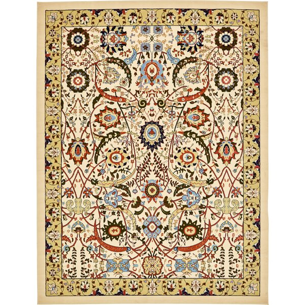 Riker Cream Area Rug by Charlton Home