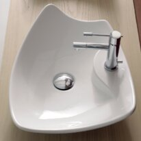 Best Reviews Kong Ceramic Specialty Vessel Bathroom Sink By Scarabeo by Nameeks