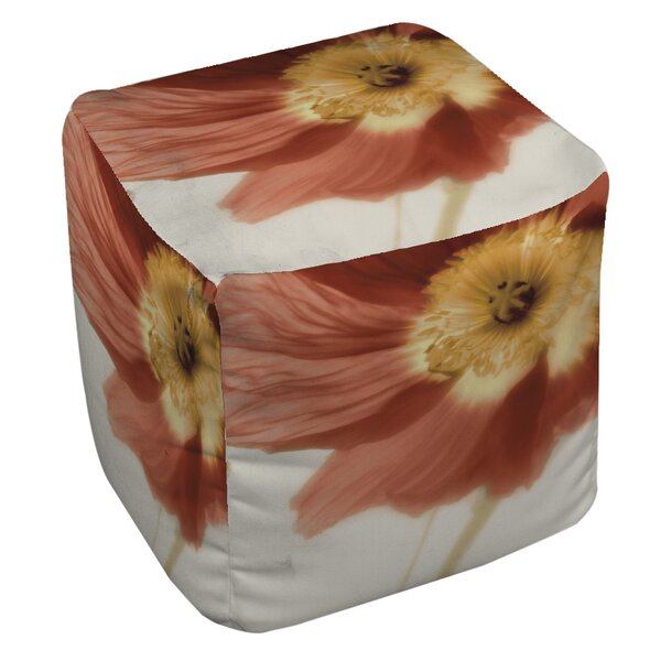 Mystic Poppy 1 Pouf by Manual Woodworkers & Weavers