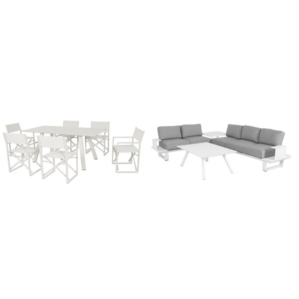 Wistow 10 Piece Conversation Set with Cushions by Wade Logan