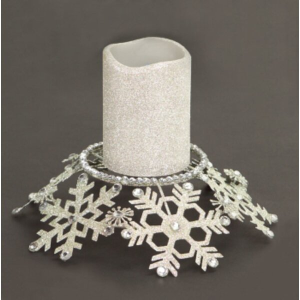 Snowflake Glittered and Jeweled Metal Dish by Alcott Hill
