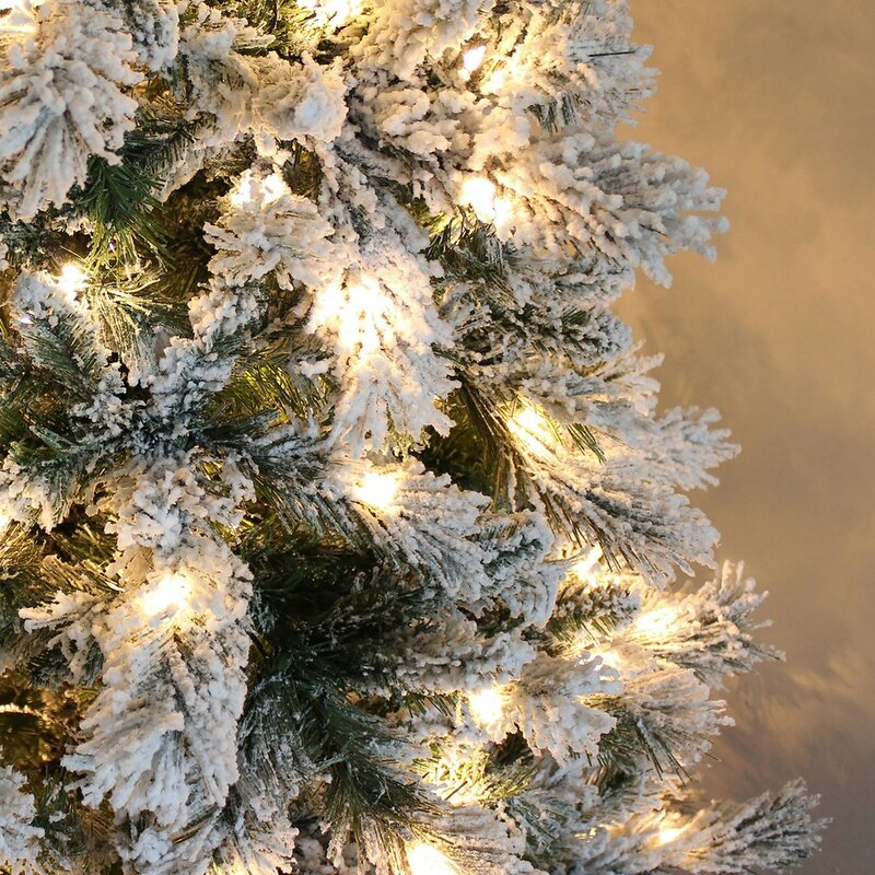 Slim Snow Multi 7ft Green Spruce Artificial Christmas Tree with 400 Clear/White lights with Stand. £126.99