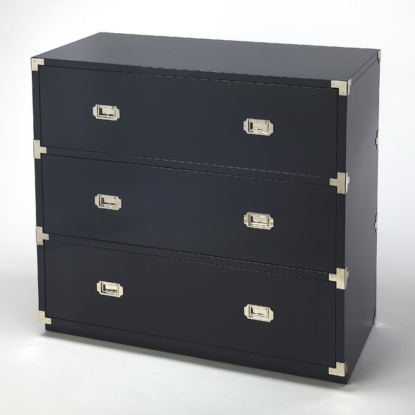 Wimborne 3 Drawer Standard Dresser/Chest by Everly Quinn