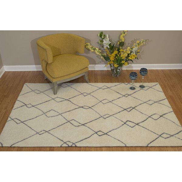 Pisano Silver Gray/Ivory Area Rug by Bungalow Rose