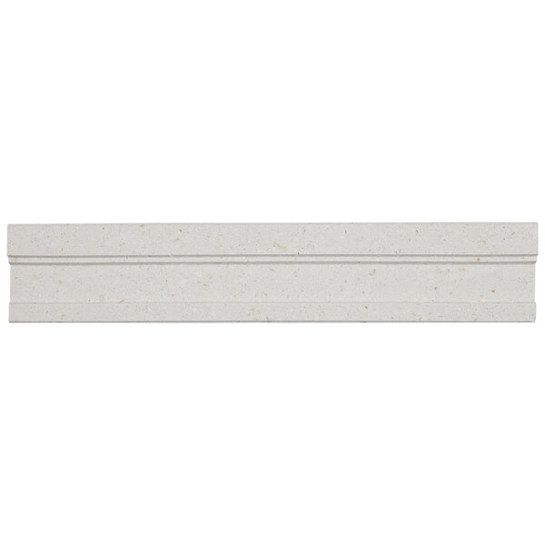 Oxford 2 x 12 Limestone Chair Rail Tile in Blavet Blanc by Itona Tile