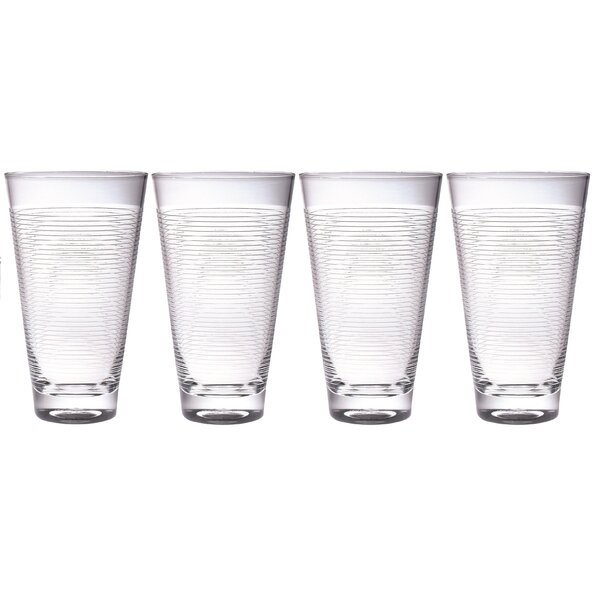 20 oz. Plastic Every Day Glass (Set of 4) by Chenco Inc.
