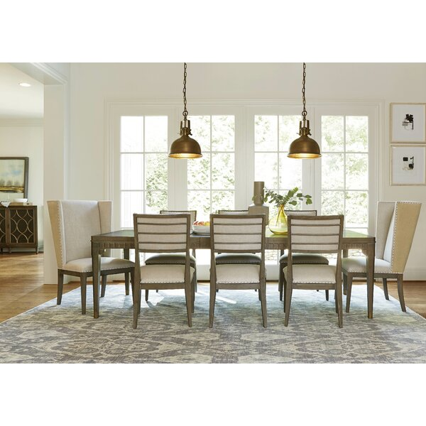 Rison 9 Piece Extendable Solid Wood Dining Set by Greyleigh