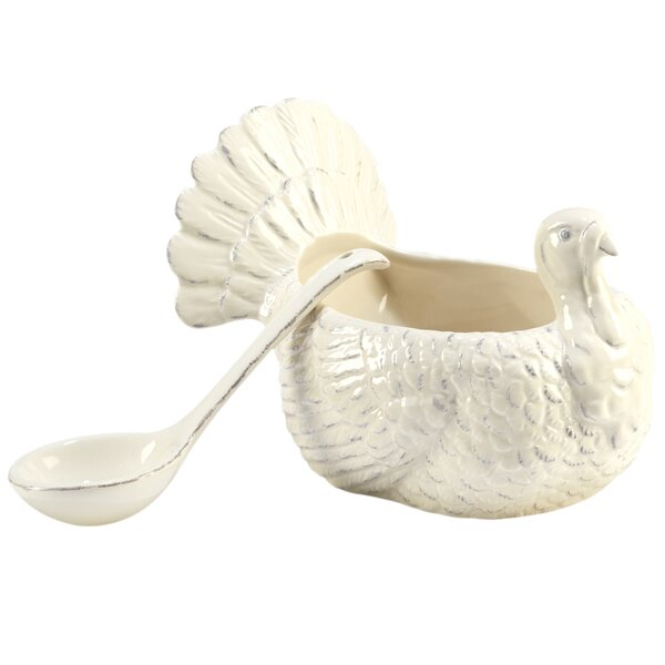 Layla 3-D Turkey 2 Piece Gravy Boat Set by The Holiday Aisle